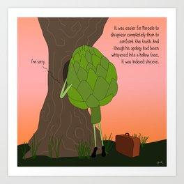 raw artichoke. Art Print