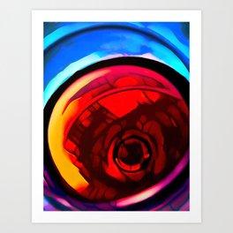 Red wine glass stylized photography Art Print