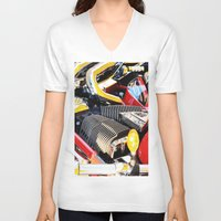 motorcycle V-neck T-shirts featuring Motorcycle by Carlo Toffolo
