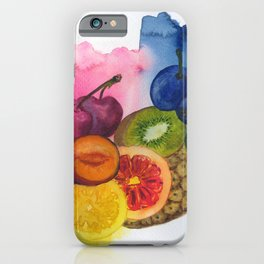 fruity stillife in watercolor iPhone Case