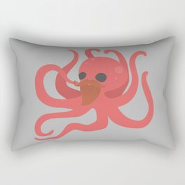 Octobeard Grey Rectangular Pillow