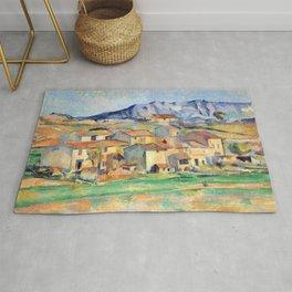 Paul Cézanne - Mont Sainte-Victoire and Hamlet Near Gardanne - Hameau à Payennet près de Gardanne Rug
