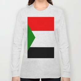 flag of sudan 2 -sudan,السودان ,sudanese,nubia,khartoum,omdurman Long Sleeve T-shirt