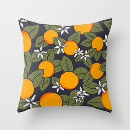 Orange ya glad Throw Pillow