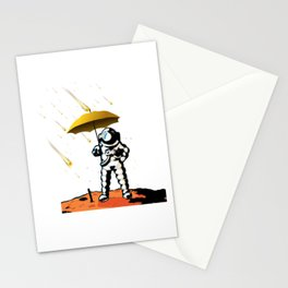 Aeronautic Astronaut Meteor Shower Meteorites Galaxy Space Nerd Stationery Cards