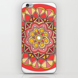 Red Mandala iPhone Skin