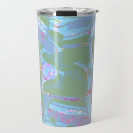 Turquoise and Lavender Travel Mug