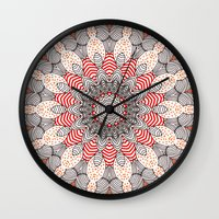 mandala Wall Clocks featuring manDala by Monika Strigel