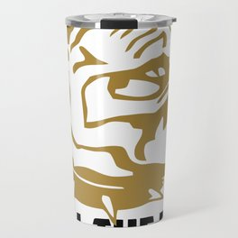 I'm with you till the end of the line funny Travel Mug