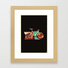 Gamma Bike Framed Art Print
