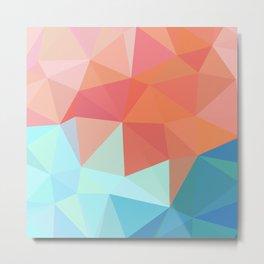 Kite flying geometric Metal Print