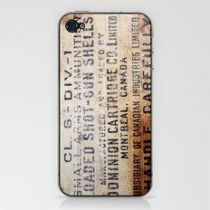Handle carefully iPhone & iPod Skin