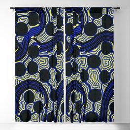 Aboriginal Art – The Rivers around Us Blackout Curtain