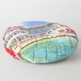 New Orleans Paddle Steamer Pop Art Floor Pillow