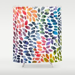 Colorful Painted Drops Shower Curtain
