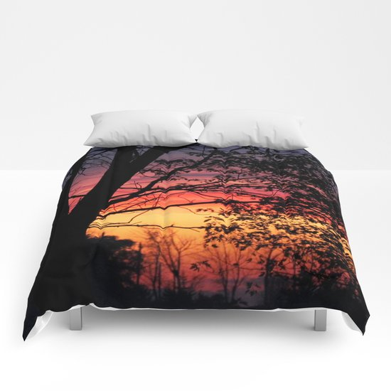 Sunrise - Silhouettes Comforters