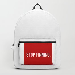 Stop Finning. Backpack