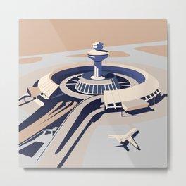 Soviet Modernism: Zvartnots airport, Armenia Metal Print