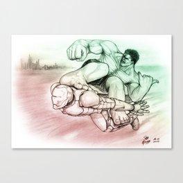 Hulk & Iron Man surfin' Canvas Print