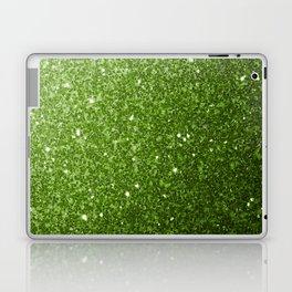 Beautiful light green greenery glitter sparkles Laptop & iPad Skin