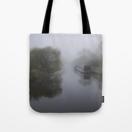Moored in the mist Tote Bag