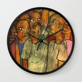 2011 black fist occupy your face Wall Clock