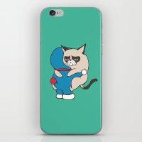 doraemon iPhone & iPod Skins featuring Cat Hugs by Huebucket