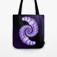 hook Tote Bags featuring Julia's Hook by artsytoocreations