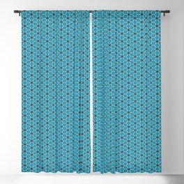 Abstract Turquoise Pattern 5 Blackout Curtain