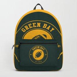 Green Bay football vintage logo green Backpack