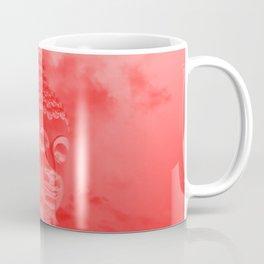 buddha in colored clouds with artificial sun Coffee Mug