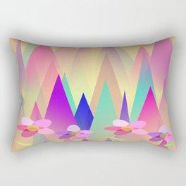 Mountains And Flowers Rectangular Pillow