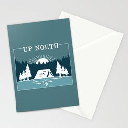 UP NORTH, camping Stationery Cards