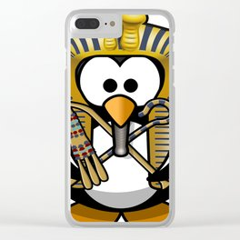 king tut tut tutankhamun tux Clear iPhone Case