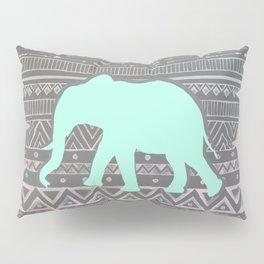 Mint Elephant  Pillow Sham