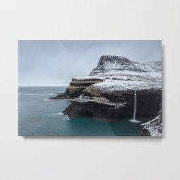 Mulafossur waterfall Metal Print