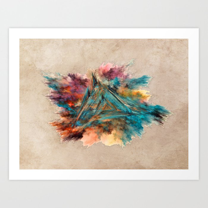 Triangle Fractal Art Art Print