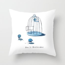 Blueberrdies Throw Pillow