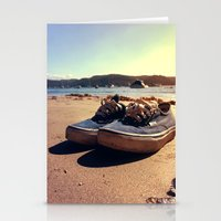 vans Stationery Cards featuring Beached Vans by Zakvdboom Designs