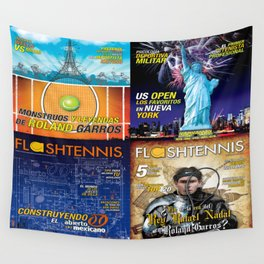 Tennis Magazine Covers Wall Tapestry