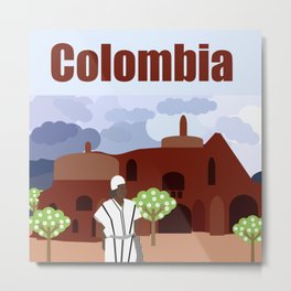 Indian tribe Kogi of Colombia Metal Print