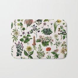 vintage botanical print Bath Mat