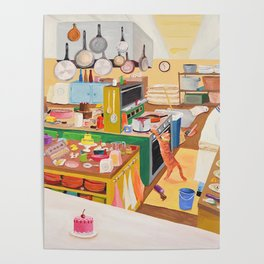 A Cat in the Kitchen Poster