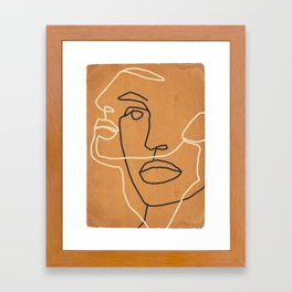 Abstract Face 6 Framed Art Print
