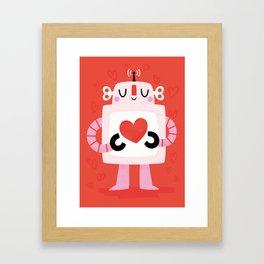 Love Robot Framed Art Print