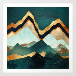 Velvet Copper Mountains Art Print