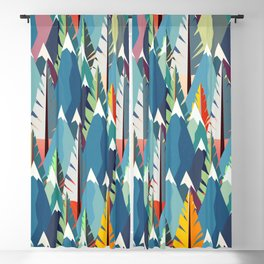 Mountains and Spruces Pattern Blackout Curtain