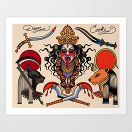 Warrior goddess Art Print