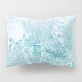 Sea Dream Marble - Aqua and blues Pillow Sham
