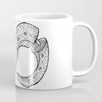 snake Mugs featuring SNAKE by JustJustin